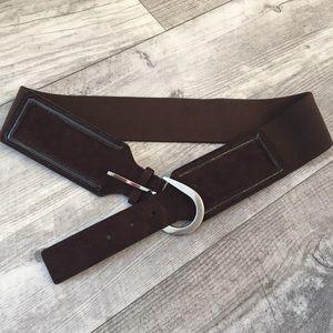 Calvin Klein Brown Suede Elastic combo Belt L/ XL